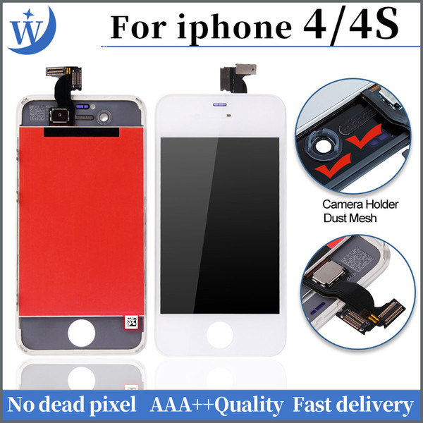 AAA+++ High Quality LCD Display for iphone 4 4s Touch Digitizer Complete Screen with Frame Full Assembly Replacement