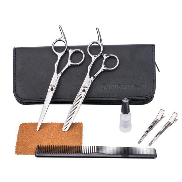 professionale 6 pollici Beauty Salon Cutting Tool Barbiere Parrucchiere taglio di capelli taglio taglio Styling professionale set di forbici parrucchiere