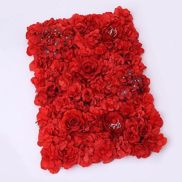 Mariage Artificielle Fleur Mur Faux Stade Fond Rose Blub Tapis Simulation Fleurs Soie Partie Nouvelle Décorations Romantique 35qd ZZ