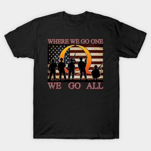Yeni QANON Nereye Gitmek Bir Askeri erkek T-shirt Boyutu S-3XL Erkekler Marka Clothihng En Kaliteli Moda Mens T Gömlek% 100% Pamuk
