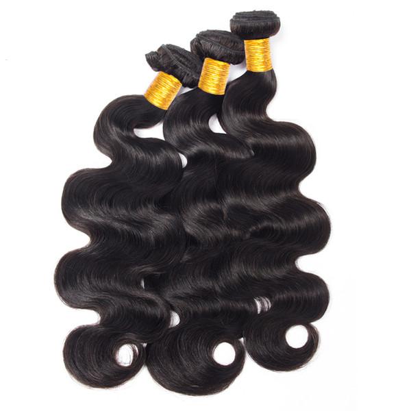 Musi cabelo 100% remy cabelo feixes de onda do corpo brasileiro onda do corpo do cabelo humano 3 bundles extensão frete grátis