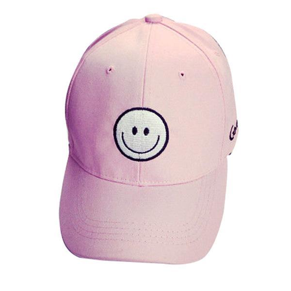MYPF-Unisex Men Women Snapback Baseball Peaked Cap Smiling Face Adjustable HipHop Hat