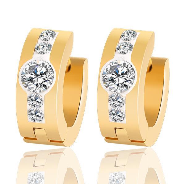 Earring Women 18K Rose Gold Plated Stellux China Wholesale Fashion Jewelry Rhinestone Cubic Zirconia Stud Earrings Big Crystal Earrings