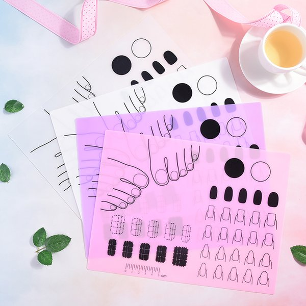 Silicone Stamping Mat Nail Practice Fingernails Template Pad For Gel Polish Magic Nail Art Manicure Tool