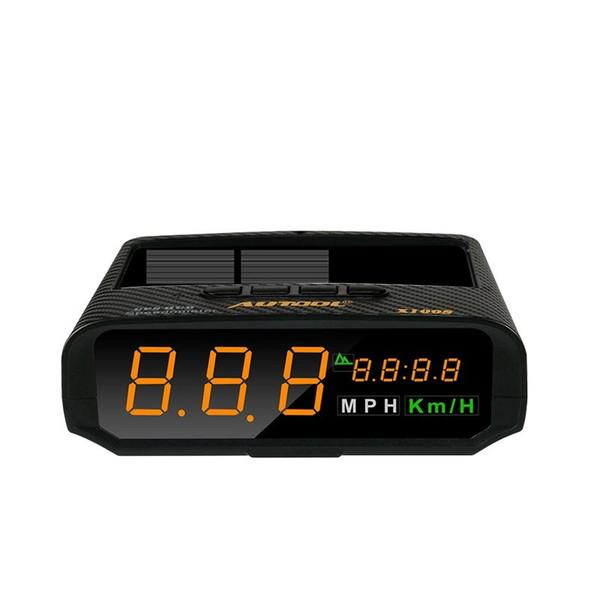 X100S Solar Ladung HUD Autos Auto Head up Display Geschwindigkeitsmesser Multi-funktionale Fahrzeug Digital Elektronik Kopf-up m GPS