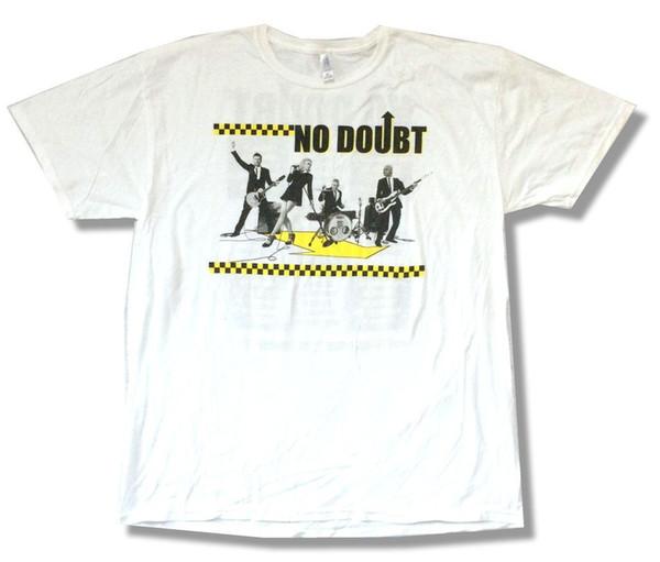 No Doubt Checkers North American Tour 2009 Camiseta blanca Nuevo oficial suave verano Short Sleeves New Fashion Camiseta