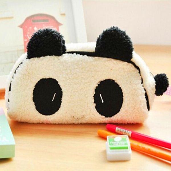 Kawaii Panda peluche soffici Pouch Bag Pouch Cosmetici borsa pouch Case Coin Purse Wallet Cancelleria per ufficio