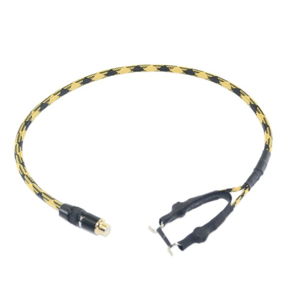 1PC HEAVY DUTY 15AWG COPPER WIRE RCA TO CLIPCORD CONVERTION LINE 50CM CCSNAKECONVERT-01 FOR TATTOO POWER SUPPLY AIR MAIL