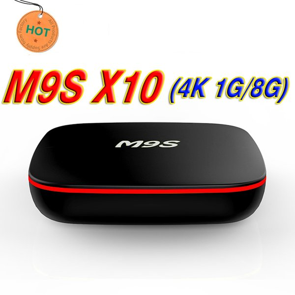 2018 Best HOT High Quality M9S X10 4K RK3229 1G+8G Android 7.1 TV Box H.265 Smart Mini PC Support HD Media Player wholesaler