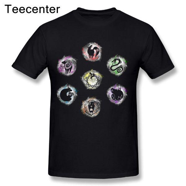 Coole 7 Sieben Todsünden T Shirt Neue Ankunft Mann Nizza Anime Benutzerdefinierte T-shirt Plus Größe
