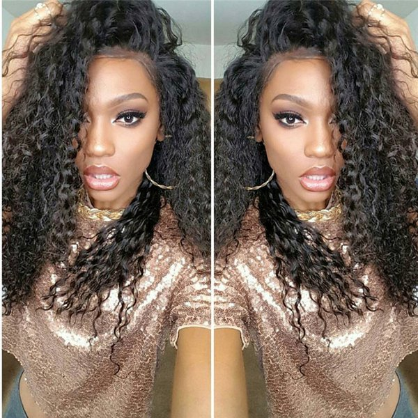 Malaysian Brazilian Human Hair Wigs Wholesale Kinky Curly Lace Front Wigs With Bleached Knots Natural Hairline Full Lace Wigs