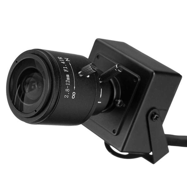 Mini caméra IP étanche infrarouge HD ONVIF 2.0 1280 X 720P 2.8-12mm Objectif zoom manuel varifocal Plug and Play 1.0MP avec support