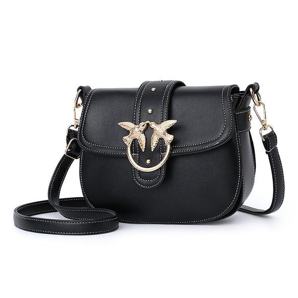 Female bag new retro rivet PU color swallow decoration single shoulder slanting small square bag do some shopping