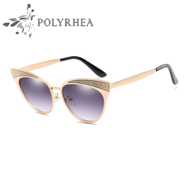 Top Quality New Fashion Sunglasses Woman Brand Designer Cat Eye Sunglasses Summer Style For Women Gradient UV400 Lenses Box and Cases