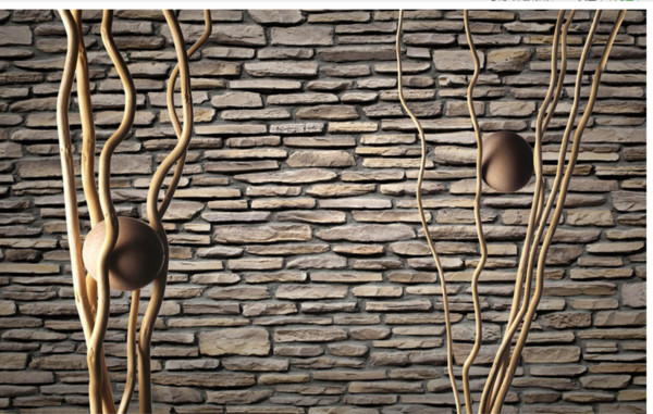 3D Wallpaper Photo Wallpaper High Quality 3D Stereoscopic Tree Trunk Culture Wall Brick Home Decor Living Room Wall Covering
