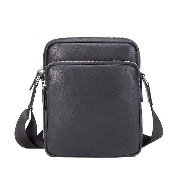 fashion crossbody bags for men small leather messenger bag Metal zipper black good quality shoulder bags hot sale famous brand