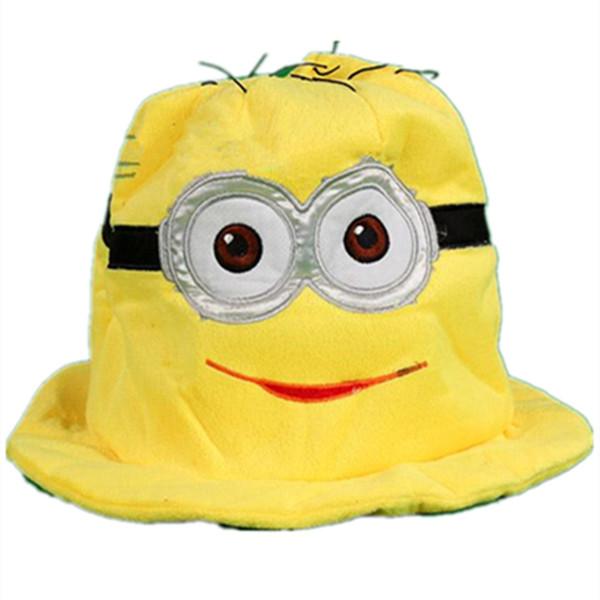 neue Cartoon Anime Plüsch Baumwolle stricken niedlich Gelb Dave Kevin Warme hut Kinder Erwachsene Gelb soldat Cosplay Cap Beanies