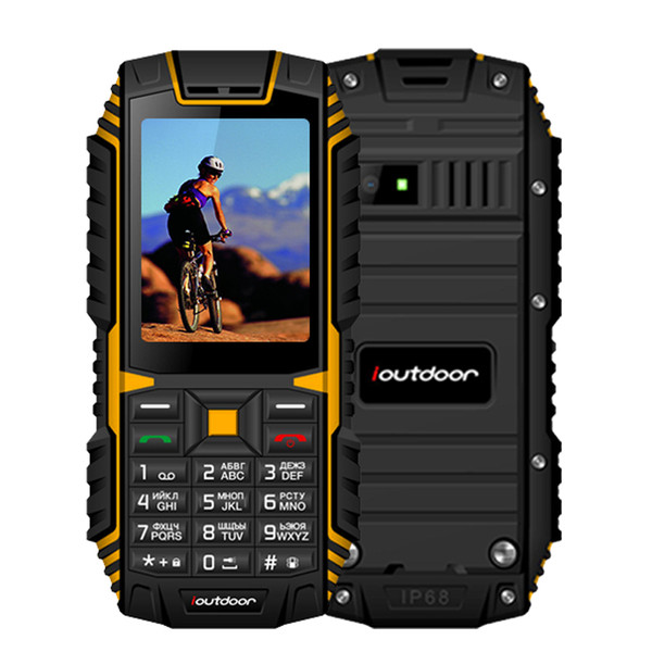 ioutdoor T1 2G IP68 Phone Waterproof 2.4 Inch Telefon Celular 128M+32M GSM 2MP Back Camera FM 2100mAh Rugged Mobile Phone