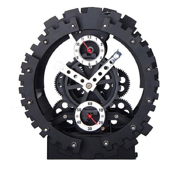 Dual-gear alarm automobile despertador digital watch electronic desk home decor klok masa saatial fajr clock Metal+Plastic