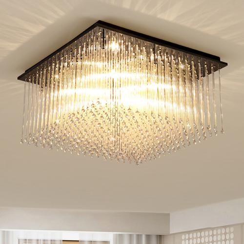 New Design Modern LED Rectangle Crystal Chandeliers Light Square Chandelier  Lightings For Living Room Bedroom Guest Room Hotel Room Small Chandeliers  ...