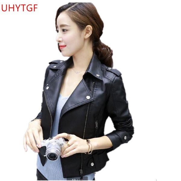 3f75bd45e 2019 2018 New Leather Jacket For Women Spring Autumn Korea Large Size Short  Paragraph Tops Slim Fashion UP Leather Clothing Coat Tide From Qingxin13,  ...