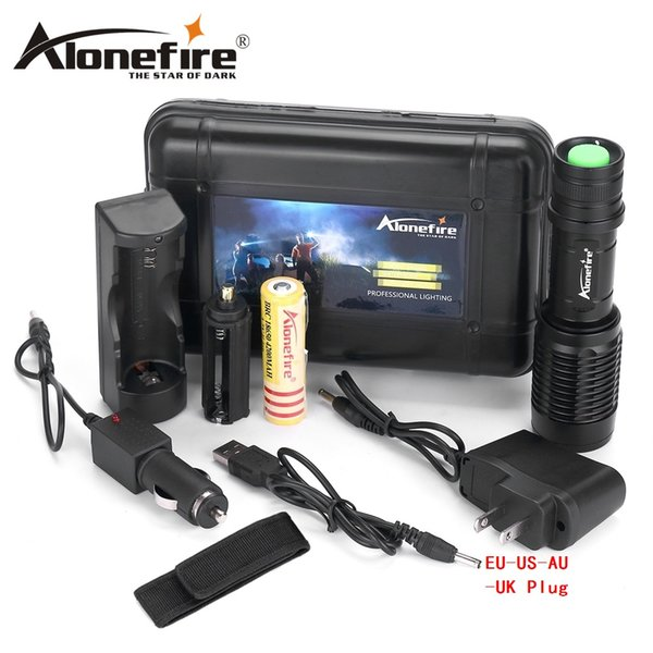 Alonefire H230 CREE XM-L T6 2000 Lumens LED Bicycle Flashlight Torch light For 3xAAA / 1x18650 battery