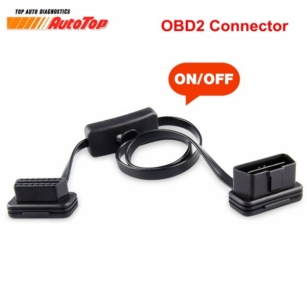 ELM327 Cable To 16Pin OBD2 Connector OBD 2 Cable 16Pin Female Connector OBD II OBD2 with Switch Diagnostic for ELM327
