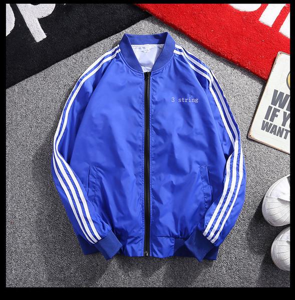 Mens Jackets Solid Color Windbreaker Cool Fashion Designer Jackets Stand Collar Sport Coat for Men Spandex Zipper Size M-5XL