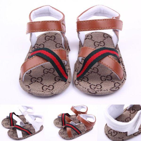 아기 소년 샌들 신발 아기 신발 여름 신생아 유아 아기 PU 가죽 샌들 소프트 캐주얼 신발