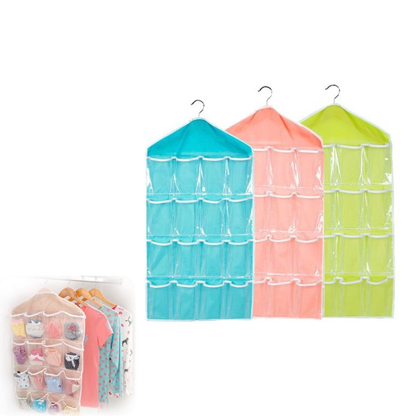 16 Pockets Sorting Storage Bag For Socks Shoe Toys Underwear Slippers Jewelry Door Wall Hanging Closet Organizer
