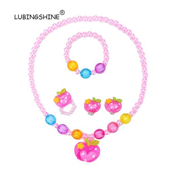 LUBINGSHINE дети девушки сердце Apple дизайн ювелирных изделий Baby ребенок дети ювелирные изделия аксессуары Collier браслет серьги кольцо подарок