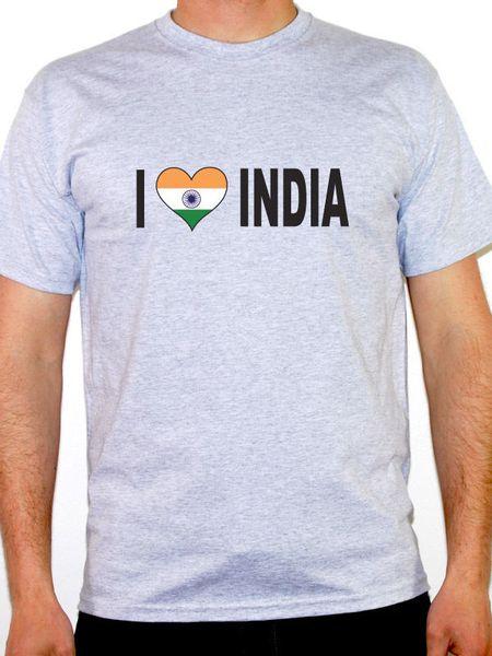 Футболка с надписью I Love India - мужские - разных размеров и цветов
