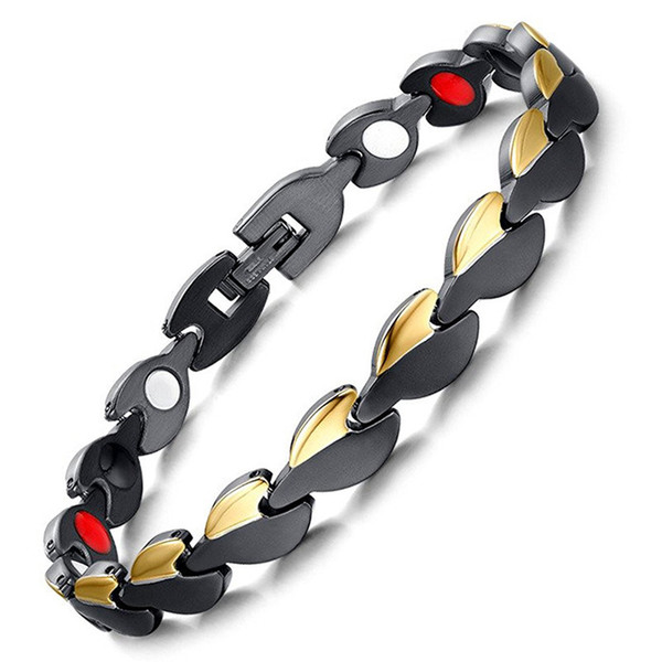 LITTLE FROG Woman Bracelets Stainless Steel Magnetic Health Therapy Bracelets Bangles for Women  Fashion Health Jewelry