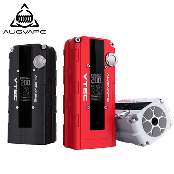 Augvape V200 200w electronic cigarette mod Auto Bypass V mode led display 510 connector mod box 3 colors
