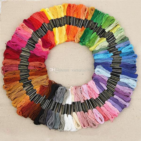 La nueva línea de puntada de algodón no tejido 120pcs / LOTE bordado de algodón bordado de hilo suelas de bordado Shjipping libre