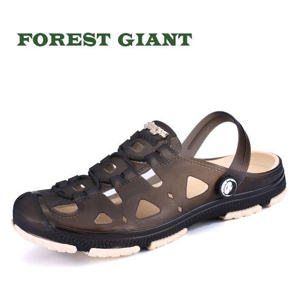 FOREST RIESEN Männer Jelly Schuhe Männer Sandalen Garten Sommer Strand Breathable Beiläufige Schuhe Wohnungen Slip auf Hausschuhe L801
