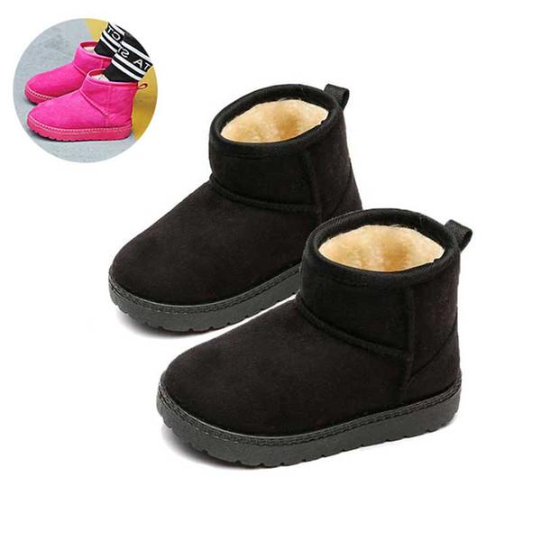 Bottes Enfants Enfants Chaudes Garçons Hiver Filles Laine Chaussures Garder Chaussures Bottines Acheter Chaussures Bottes Épaissir Botas Neige 2018 jSqLzpUMVG