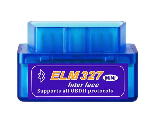 Mini V2.1 ELM 327 OBD2 Elm327 Bluetooth Adapter Cord Reader Scan Tool Elm-327 Car Diagnostic Scanner OBD 2 II Auto Diagnostic Tool