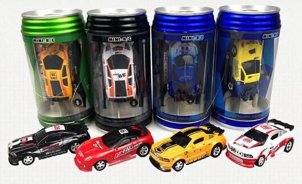 Epacket 8color Mini-Racer Remote Control Car Coke Can Mini RC Radio Remote Control Micro Racing 1:63 Car,Coke tank remote car speed racing