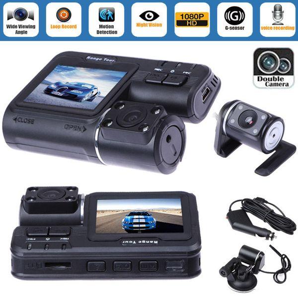 "Dual Lens Car DVR Camera 2.0"" Full HD 1080P LCD Video Dash Cam+Rear View Camera"
