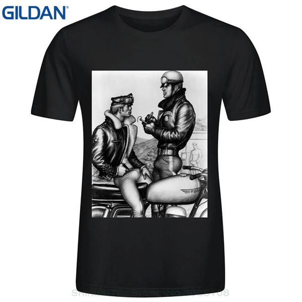 Sconto all'ingrosso Uomini Estate Abbigliamento Meganho Design Bob Mizer Tom Of Finland Mens T shirt in cotone o collo