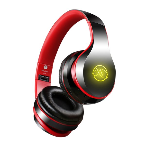 Bluetooth Wired PC Gamer Stereo Hifi Gaming Portable Headphones With Microphone Dazzle Lights Glow Game Music Headset 4-6H