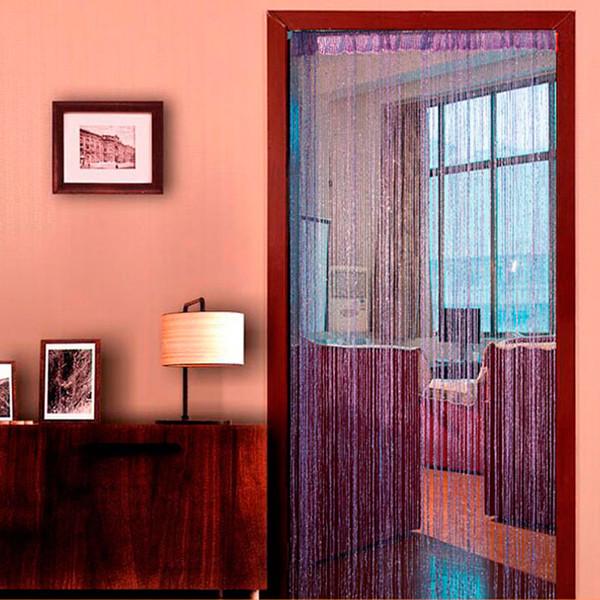 Shiny Tassel Flash Silver Line String Cortina per porte e finestre Divisorio per tende Tende trasparenti Decorazione domestica Tende trasparenti 0.95x1.95m