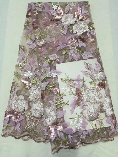 VILLIEA 3D цветы последней африканской шнур кружевной ткани высокое качество 2018 Нигерии кружевной ткани для свадебного платья Африканского кружевной ткани