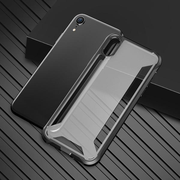 Ip XS Max Kılıf Hibrid Yumuşak TPU Tampon PC Arka Kapak Telefon Kılıfları Için Ip XR XS MAX unbreak cep telefonu kabuk