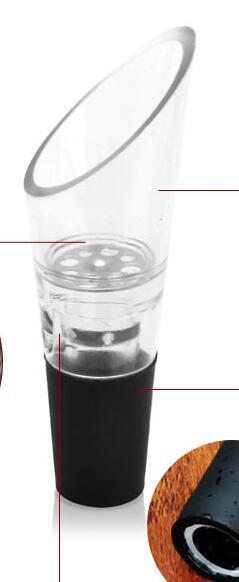 Beyaz Kırmızı Şarap Havalandırıcı Spout Dökün Şişe Stoper Decanter Pourer Havalandırma Şaraplar Şişe Pourer