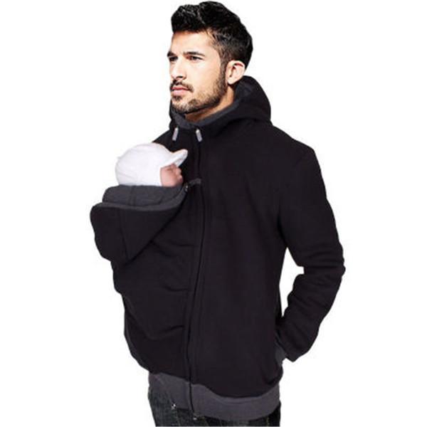 Vati-Winter-Känguru-Baby-Fördermaschinen-Jacken-lange Hülse Dady Hoodies, die tragen tragen Säuglings-Sweatshirt-Winter-warme Kapuzenpulli-Kleidung