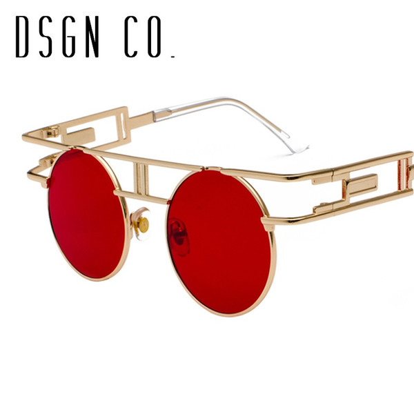Dsgn Co. Vintage Steampunk Round Sunglasses For Men And Women ...