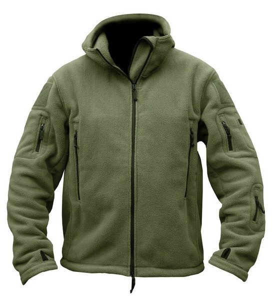 best selling Man Fleece Tactical Jacket Thermal Breathable Hiking Polar Hooded Coat Outerwear Army Clothes Softshell Outdoor Sports