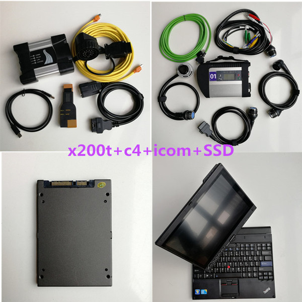 Auto diagnosis Tool X200T 9300 4G+1TB Soft-ware for BMW Icom next+MB star C4 SD connect C4 compact 5+1TB SSD
